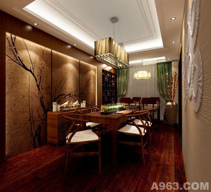 天花以木条相交成方格形,上覆木板,也可做简单的环形的灯池吊顶,用