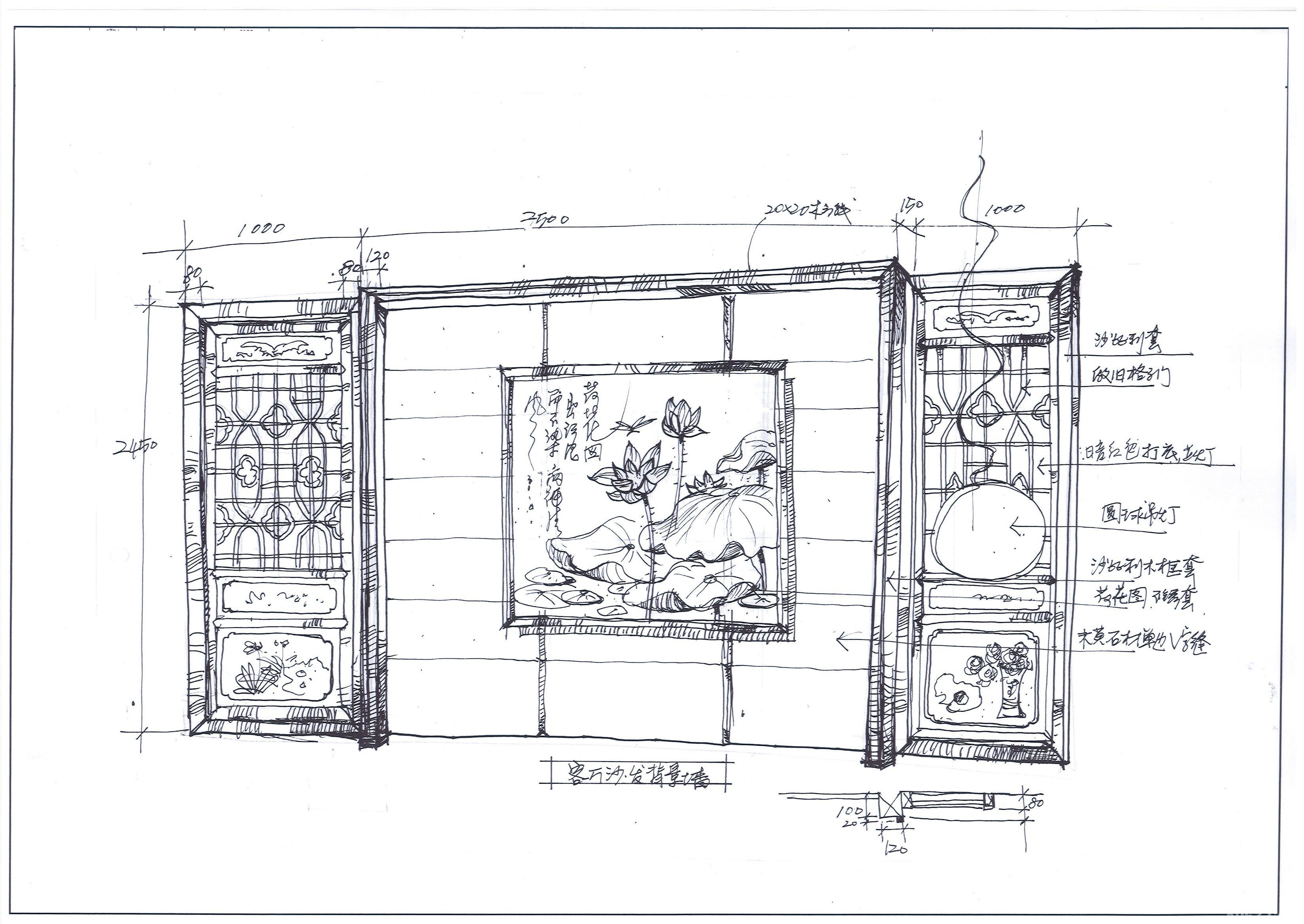 客厅沙发背景墙细节设计