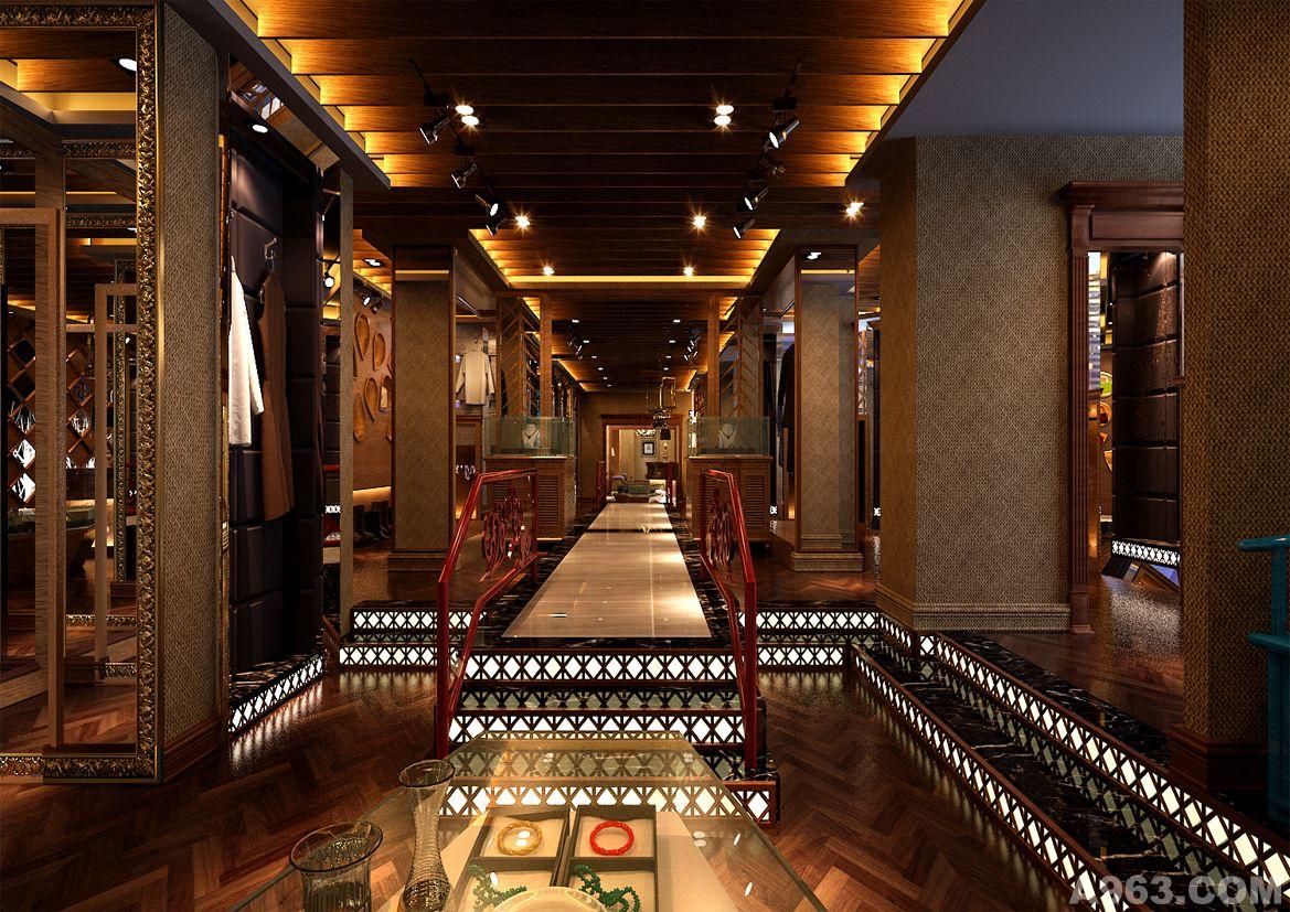 服飾會所 - 商業空間 - 西安室內設計網_西安室內設計