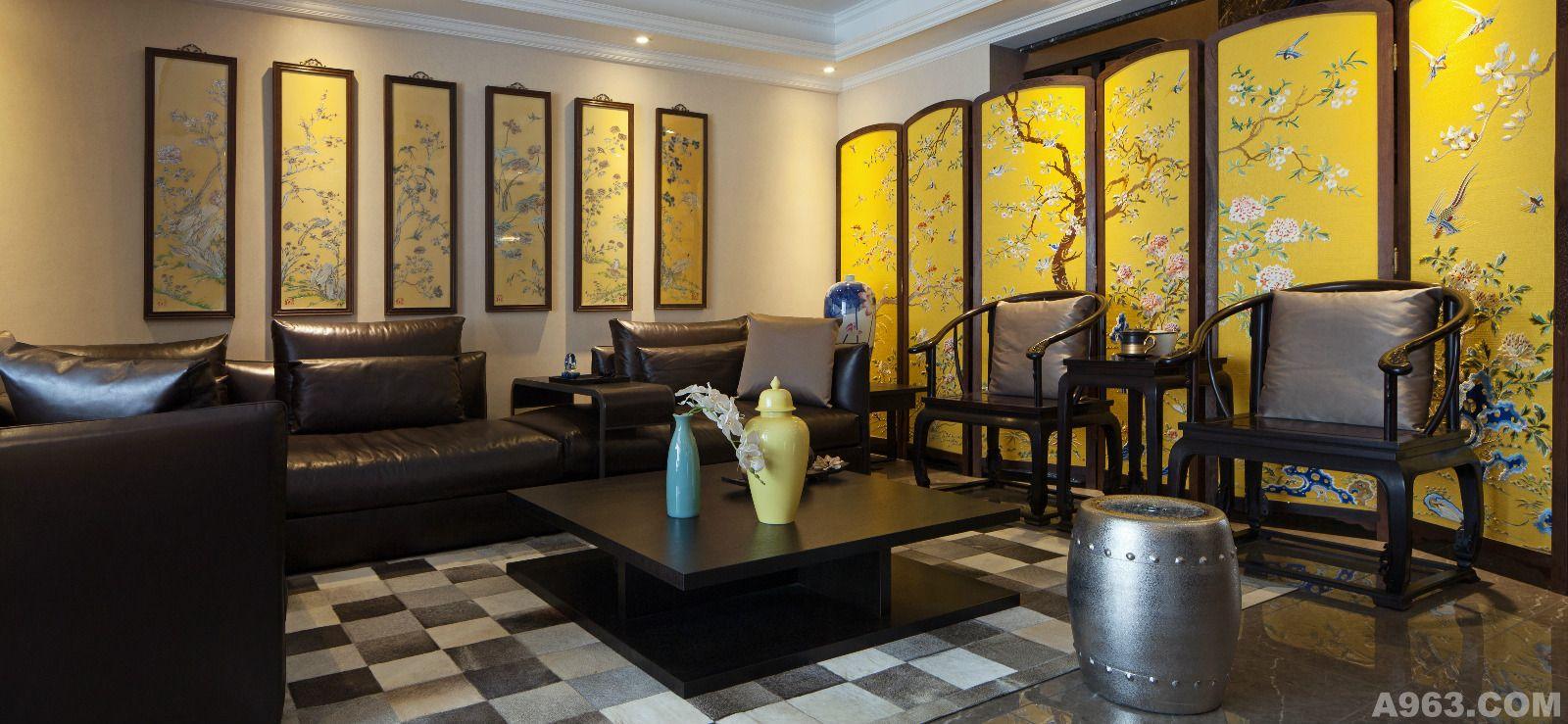 幽幽的水墨画演绎新中式唯美雅居 - 公寓设计 - 第5页