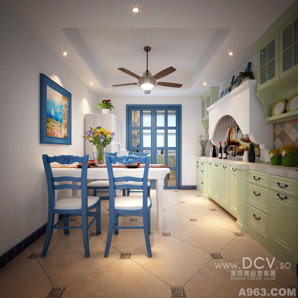 客厅中拱形的门洞以及电视背景墙拱形壁橱是地中海的经典元素.