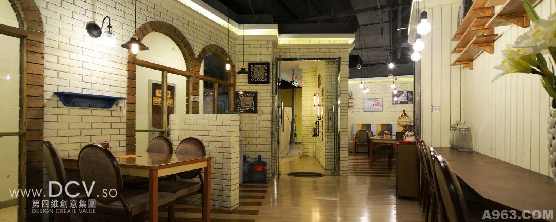 西安-慢生活冷火锅地中海主题餐厅设计说明