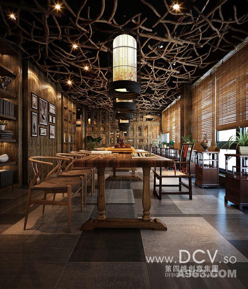 王咏设计-西安泾阳德林茶秀会所主题餐厅室内设计