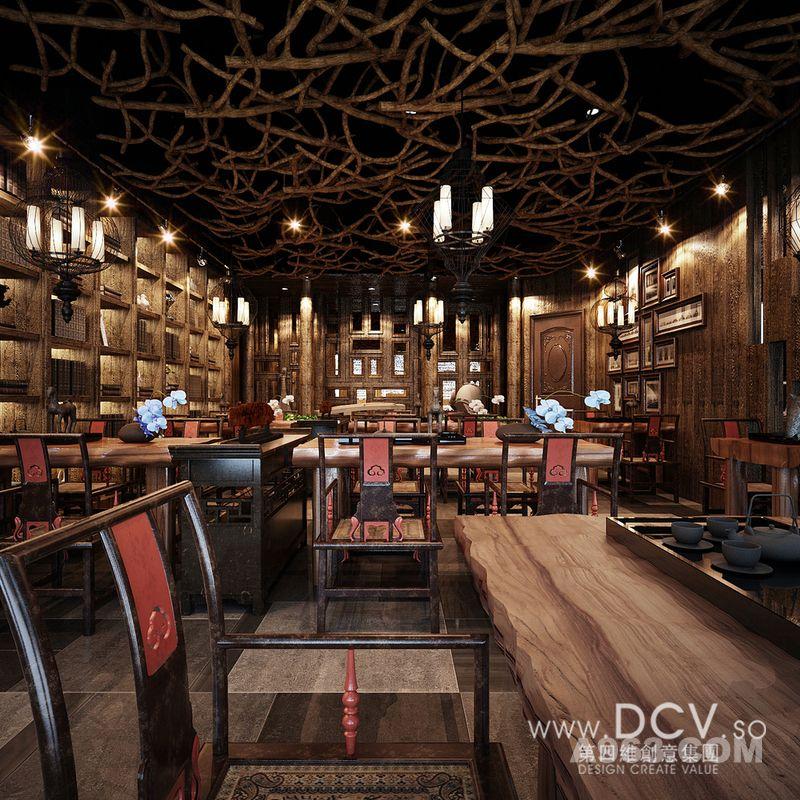王咏设计-西安泾阳德林茶秀会所新中式特色主题餐厅装潢设计说明