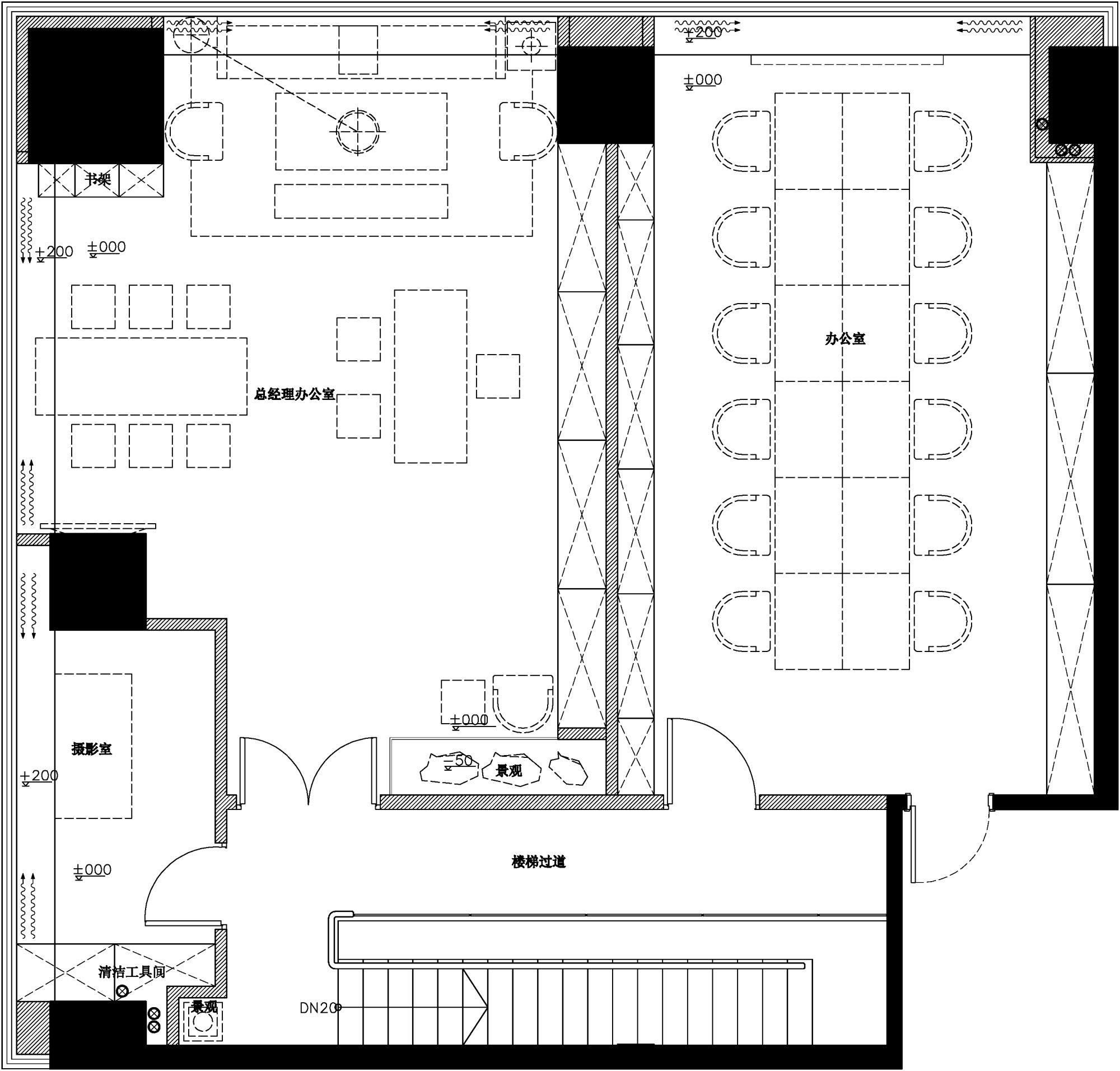 璞玉展厅2f平面图