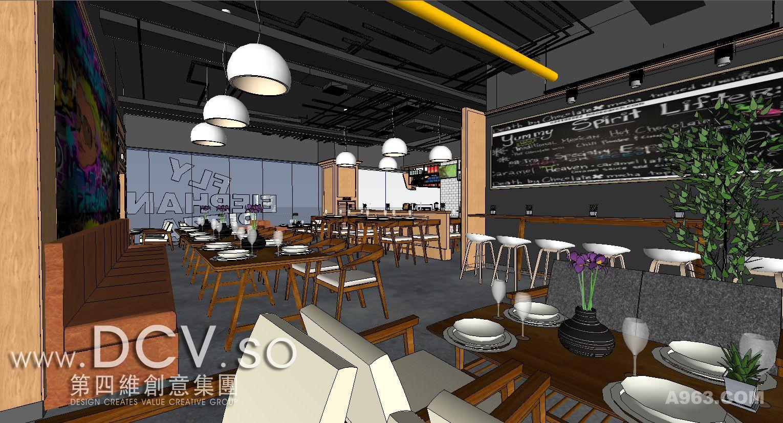 西安最让人羡慕的主题餐厅设计-咸阳飞象披萨(财富中心店)说明