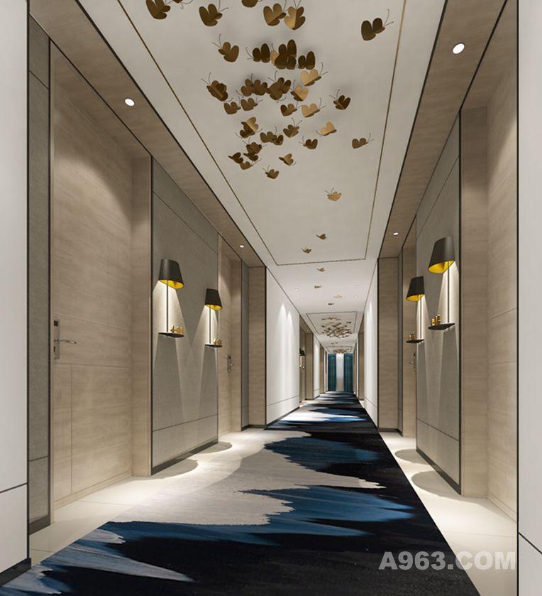 柏德蕊酒店走廊设计