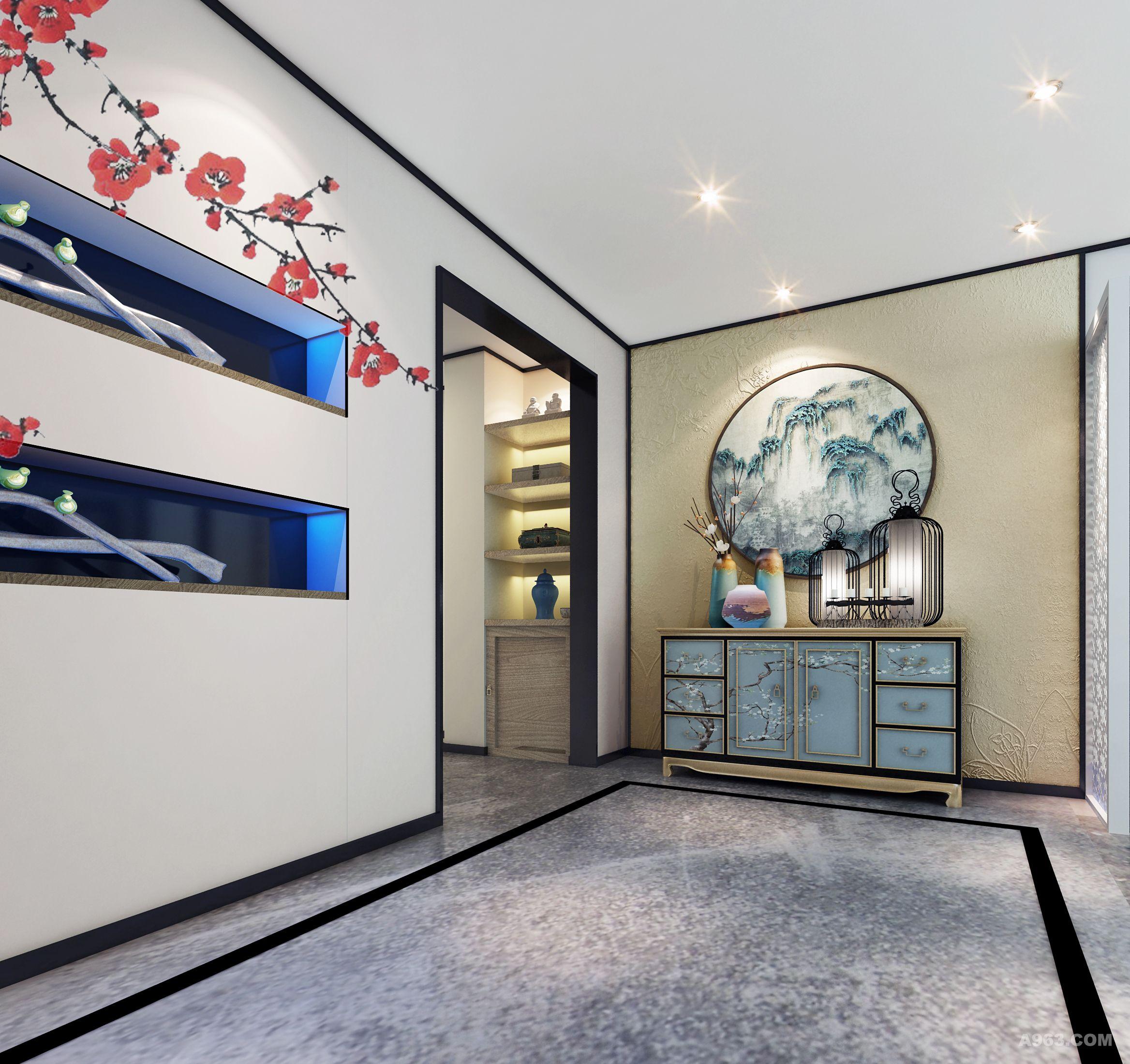 本案例为中国传统的旗袍服装店,将简约的中式元素体现在此空间中,用