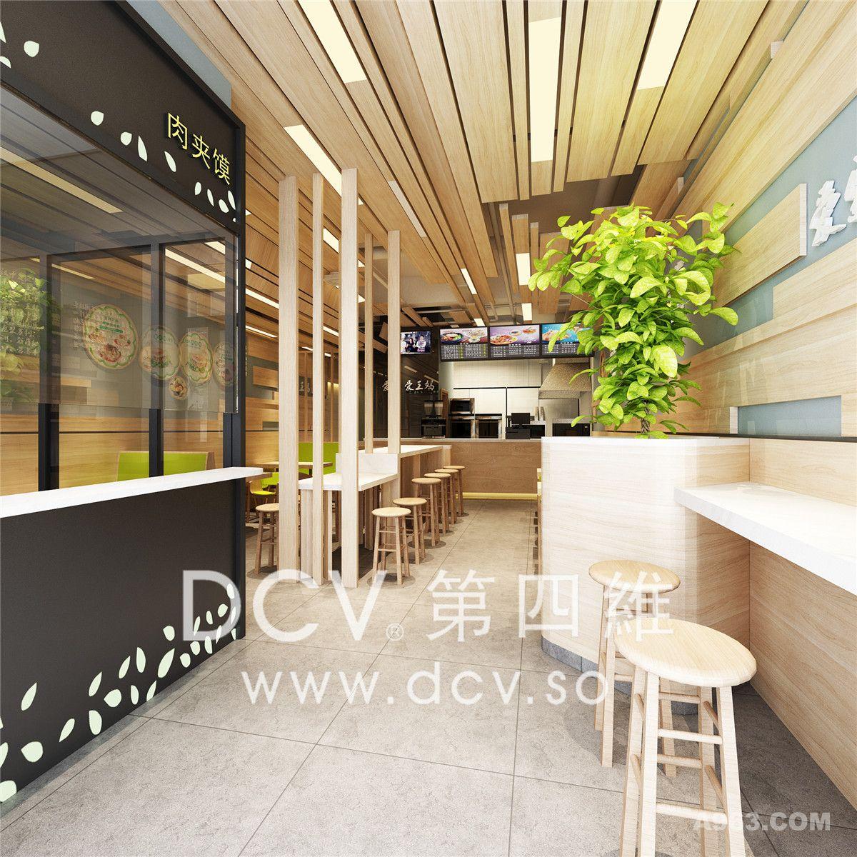 西安连锁餐饮设计-王妈凉皮现代风格餐厅(商洛店)
